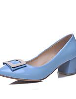 Women's Shoes  Chunky Heel Heels/Comfort/Closed Toe Pumps/Heels Outdoor/Office & Career/Casual Black/Blue/Pink/Beige