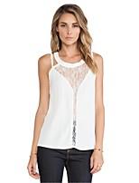 Women's Sexy/Casual Inelastic Sleeveless Regular Vest (Chiffon)
