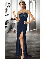 Formal Evening Dress A-line Jewel Floor-length Chiffon Women Prom Dress