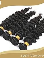 4pcs / lot vierge brésilienne de cheveux 100% cheveux remy brésiliens profonde vague 8
