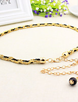 Women Pearl Decoration Fashion Belts Party/Casual Alloy Others Skinny Belt