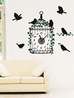 Modern Style DIY Creative Cage Mute Wall Clock