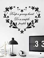Wall Stickers Wall Decals, Keep a Young Heat English Words & Quotes PVC Wall Stickers