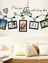 Wall Stickers Wall Decals Style Black Photo Frame PVC Wall Stickers