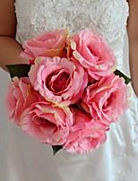 Buquês ( Amêndoa/Amarelo/Fúcsia/Rosa/Verde/Roxo/Laranja , Cetim/Seda ) - de Rosas