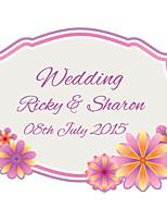 Personalized Wedding Tags Address Labels Envelope Sticker Flower Pattern Of Filmed Paper