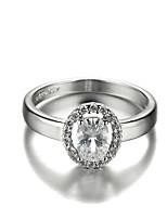 Sjeweler Ladies Girls 18K Gold Plating Zircon Wedding Ring