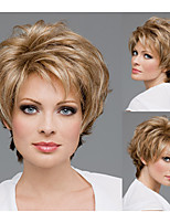 Short Straight hair Synthetic wigs for women Pixie cut Natural wigs with bangs
