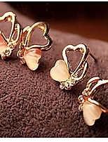 Love Hollow-Out Threesome Butterfly Earrings