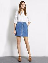 Women's Buttons Casual Denim Skirt