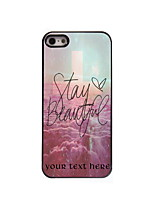 Personalized Gift Stay Beautiful Design Aluminum Hard Case for iPhone 4/4S