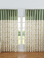 Cozzy More Jin Yin Cotton Half Shading Contemporary And Contracted Wind Curtain 2 Pieces