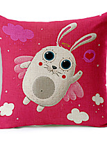 style moderne coton lapin de dessin animé / lin taie d'oreiller décoratif