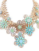 Women's European Style Elegant Flower Resin Necklace