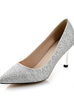 Women's Shoes Stiletto Heel Pointed Toe Pumps/Heels Office & Career/Dress Silver/Gold