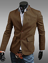 Men's Long Sleeve Regular Blazer , Cotton Blend/Polyester Pure