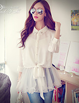 Pink Doll®Women's Shirt Collar Casual/Lace ¾ Sleeve Long Shirt