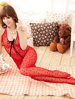 Suzel summer sexy ladies tights thin hollow dots temptation conjoined open sexy lingerie