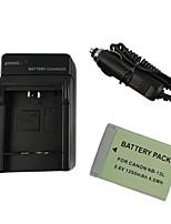 13l batería de la cámara 1250mAh + cargador de coche para el canon powershot g7 x