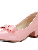 Women's Shoes  Chunky Heel Round Toe Pumps/Heels Outdoor/Office & Career/Casual Blue/Pink/Gray