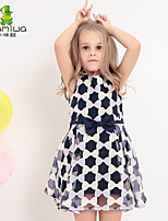KAMIWA Girls Summer Bowknot Ball Gown Sleeveless Dresses Princess Sheer Skirts Children's Clothing Kids Clothes(Chiffon)