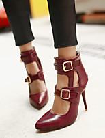 Women's Shoes  Stiletto Heel Heels Pumps/Heels Office & Career/Dress Black/Yellow/Red/Burgundy