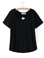 Women's Casual Micro elastic Short Sleeve Regular T-shirt