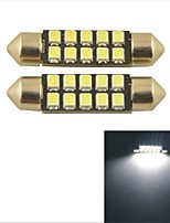 Carking™ Car Internal 2835-41mm-10SMD Festoon Dome Light-White Light(2PCS)