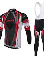 WEST BIKING® Men's Mountain Bike Clothing Suit Breathable Long Sleeves Bib Pants Wicking Cycling Bib Long Suit