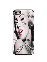 Personalized Gift Monroe Design Aluminum Hard Case for iPhone 5/5S