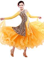 Robes ( Imprimé léopard , Tulle/Velours , Danse moderne/Spectacle ) Danse moderne/Spectacle - pour Femme