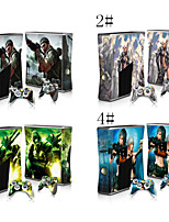 Vinyl Decal Protective Sticker Skin for Microsoft Xbox 360 Slim and 2 Controllers Skins
