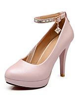 Women's Shoes Leatherette Stiletto Heel Heels Heels Party & Evening / Casual Blue / Pink / White