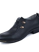 Men's Shoes Party & Evening Faux Leather Oxfords Black/White