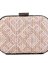 L.WEST Woman Fashion The Geometric Weaving Evening Bag