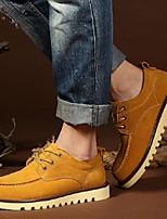 Men's Shoes Casual Suede Oxfords Brown/Gray/Khaki