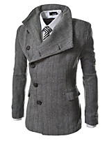 What lees Men's Casual Striped Long Sleeve Regular Trench coat