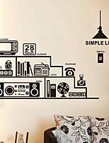 adesivi murali decalcomanie della parete, autoadesivi moderni della parete vita pvc semplici