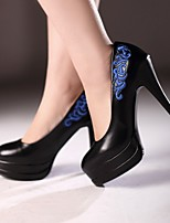 Women's Shoes Stiletto Heel Heels/Closed Toe Pumps/Heels Dress Black/White