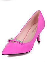 Women's Shoes Kitten Heel Heels/Pointed Toe/Closed Toe Pumps/Heels Casual Black/Pink/Gray