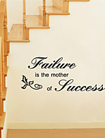 Wall Stickers Wall Decals Style Failure is The Mother of Success English Words & Quotes PVC Wall Stickers
