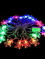 2W 4 Meter Outer Diameter 20pcs Bulb LED Modeling String Lighting Snowflake Lights, RGB Color