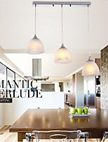Modern PVC Wine Cup Oblong Canopy Pendant Light with Three Light