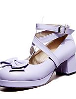 Girls' Shoes Casual Heels/Platform/Ankle Strap/Round Toe  Pumps/Heels Blue/Pink/Purple