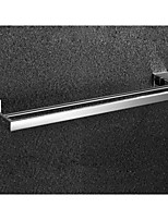 Bathroom Mirror Polished Stainless Steel Wall Mounted Square Double Towel Bar