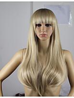 longs cheveux de vague naturelle perruques perruques de cheveux style de mode d'onde synthétique