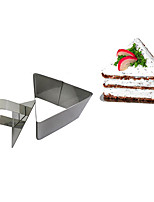 3''Mousse Tool Set of Triangle Mousse Ring with Push Handle Cheese Cake Mold Stainless Steel