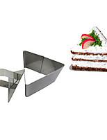 Herramienta 3''mousse conjunto de anillo de mousse de triángulo con tarta de queso manija de empuje de acero inoxidable del molde