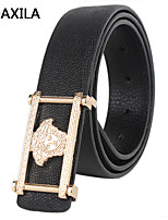 Men Party/Work/Casual Calfskin Waist Belt new men plate buckle belt leather cowhide belt business casual fashion wild