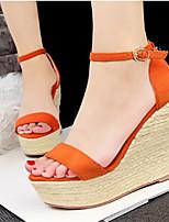 Women's Shoes Leatherette Wedge Heel Heels Sandals Casual Multi-color